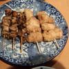 鳥正  - 料理写真:モツ焼き(70円×3)& から揚げくん(100円×2)