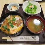 東都グリル - かつ丼とやっことサラダ(B定食)