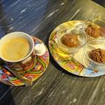 85346492 - ムース・オ・ショコラ(3種)、コーヒー
