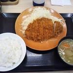 かつや - ロースカツ定食 745円(税込)(2018年4月29日撮影)