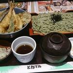 和食レストランとんでん - 天丼そばセット