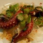多幸屋 - 蛸食べ比べ造り三種盛り♪