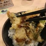 ゆで太郎 - 海老の天ぷらです