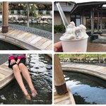 アイスクリーム工房 BOSS&MOM - 足湯気持ちよかったです( ´ ▽ ` )