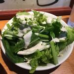 眞実一路 - ランチの「麻婆御膳 3辛」1200円のサラダ