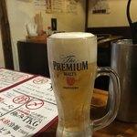 炭火焼肉 出会いのかけら - 冷えた生ビール