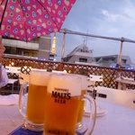 六本木ビアガーデン - ビール大¥1000