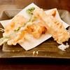 旬菜 すがや - 料理写真:帆立貝と筍の天ぷら 380円 さっくり揚がった筍と帆立貝はビックリするほど美味しかったです♡