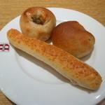 85363264 - きんぴらごぼうパン、ホールホイートロール、チーズロング