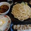 麦屋 - 料理写真:【2018/5】半玉天肉汁うどん+ちくわ天