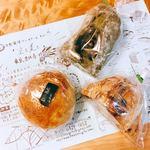 85380660 - 今回購入したパン。白小豆丸がお値引き価格だったので、3点で合計660円。
