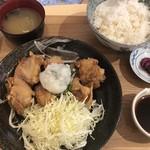勝めし屋 - 2018/5/5 ランチで利用。 おろしそからあげ6個定食(980円)