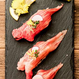 上質な甘みが口いっぱいに広げる!絶品、とろける和牛の握り寿司