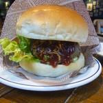 肉が旨いカフェ NICK STOCK - ハンバーガー