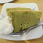 Aozorakafedainingu - セットケーキ3種よりチョイスのお抹茶シフォンはお値段それなり…かな…