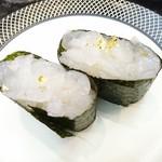 こだわりの廻転寿司 金沢まいもん寿司 - 富山白えびの軍艦、650円