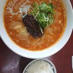 楽 - 四川担々麺 半ライス