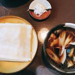85399216 - 肉茄子ひもかわうどん