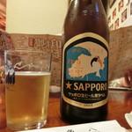 魚八寿し - 瓶ビール 700円