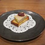 85401240 - フォアグラのテリーヌ イチジクの赤ワイン煮 自家製のブリオッシュ1