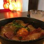 燦燦カフェ - 花ブリの漬け丼定食