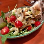 トラットリア ピッコラシチリア - 海鮮サラダとイシ貝