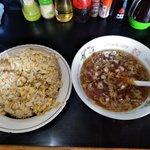キッチンあべ - チャーハン(大盛・スープ付き)