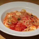 85408192 - ◆モッツラレとチェリートマトのトマトソース トマトソースは軽めの味わいで好みだそう。