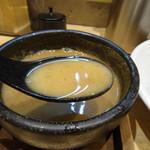 麺家獅子丸 - つけ麺のスープ割り