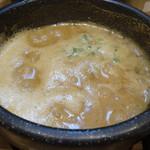 麺家獅子丸 - 濃厚獅子丸つけ麺(グツグツなつけ汁)