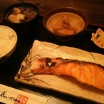 花いちりん - ある日の日替わり定食(鮭)