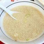 らーめん弁慶 - 背脂たっぷりスープ