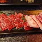 食彩和牛しげ吉 - ランチセットのカルビ