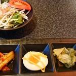 食彩和牛しげ吉 - サラダと前菜