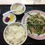 餃子の王将 - ニラレバ炒め+ライスセット
