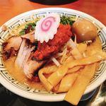 ちゃーしゅうや武蔵 - 料理写真:からし味噌ラーメン+味玉
