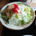炭仙人 - お昼御膳セットのサラダ