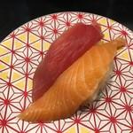 もり一 - 「まぐろ&サーモン」150円