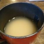 藤蔵屋 - 蕎麦湯も粉を溶かしたタイプ