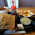 さかい - ヒレカツセット蕎麦大盛1250円