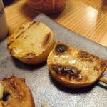 焼とり いぶし坐 - 山芋(こんがり醤油)180円&アフミカート230円