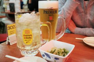 大衆酒場 やまと 名古屋駅前店 - 「男前ハイボール」と嫁の「男前生ジョッキ」