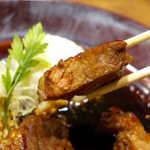 CRAFT BEER KOYOEN - 肉の厚みは相当あって、食べ応えは十分。脂身は少なめで、豚赤身の旨味を堪能できる