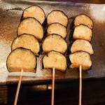 炉端処 一心 - 茄子の串焼き