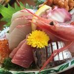 浜乃納屋 - 新鮮な刺身ですよ