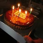 和食堂 まるさ - 土曜日の朝に来られる方の誕生日でした