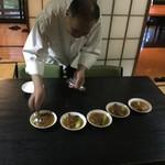 中国精進料理 凛林 - 取り分けは絶妙