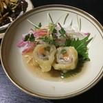 中国精進料理 凛林 - 肉の野菜巻き 山楂ソース