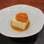 85445163 - 前菜:ホワイトアスパラ豆腐 雲丹