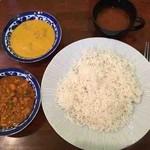 印度料理シタール - シタールランチセット(バターチキン、キーマ)